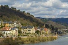 海得尔堡都市风景,德国 图库摄影