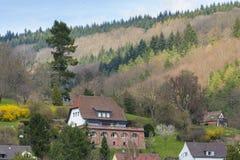 海得尔堡都市风景,德国 免版税图库摄影