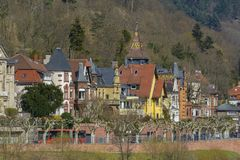 海得尔堡都市风景,德国 免版税库存图片