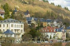 海得尔堡都市风景,德国 库存照片