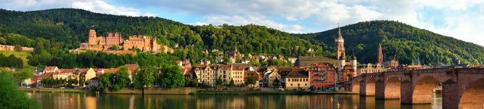 海得尔堡,德国全景  免版税库存图片