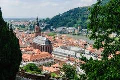 海得尔堡,德国美丽如画的老镇  免版税图库摄影