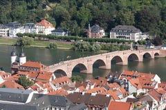 海得尔堡,德国鸟瞰图。 免版税库存照片