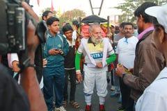 海得拉巴10K奔跑事件的老人 库存图片