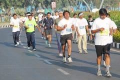 海得拉巴10K跑事件,泰伦加纳,印度 库存照片