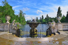 海德公园的意大利庭院在伦敦 库存照片