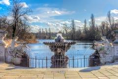 海德公园的意大利庭院 库存图片