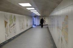 海德公园角落:步行underpassage 免版税库存图片