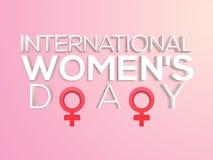 海报、横幅或者飞行物国际妇女节的 免版税库存照片