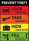 海报例证图表传染媒介防止偷窃 库存照片