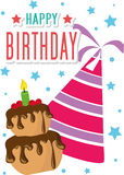 海报卡片例证图表传染媒介生日快乐 库存照片