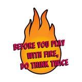 海报和卡片的诱导说法 正面口号 desing火的T恤杉 库存照片