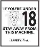 海报安全性 库存照片