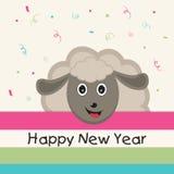 海报或横幅新年快乐的 向量例证