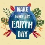 海报概念为地球日 图库摄影
