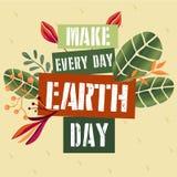 海报概念为地球日 免版税库存图片