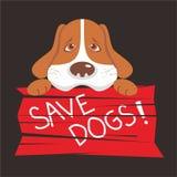 海报的保存狗商标 免版税库存图片