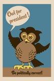 总统海报的猫头鹰 免版税图库摄影