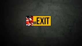 海报艺术品为说明项目Brexit 库存照片