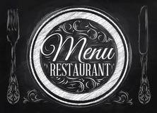 海报菜单餐馆。白垩。 库存照片