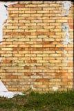 海报被撕毁的墙壁 库存照片