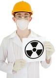 海报辐射科学家 免版税图库摄影