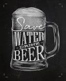 海报饮料啤酒白垩 皇族释放例证