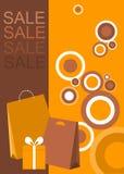 海报/传单设计购物销售额的 免版税库存照片