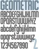 海报黑几何二进制时髦的字体 库存图片