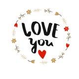 海报`爱您` 免版税图库摄影