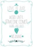 海报以纪念情人节。对爱的消息 库存照片