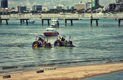 海拖拉机 免版税库存图片