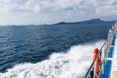 海摄影从小船的 免版税库存照片