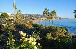 海斯勒公园使庭院,拉古纳海滩,加利福尼亚环境美化 免版税库存图片