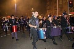 海斯廷斯篝火夜和游行2017年10月15日 免版税库存照片