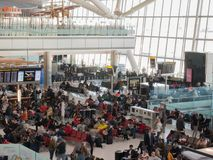 海斯罗机场在伦敦,终端5 库存图片