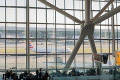 海斯罗机场在伦敦,终端5 免版税库存照片