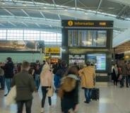 海斯罗机场在伦敦,终端5 免版税库存图片