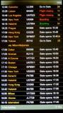 海斯罗机场离开委员会 免版税库存照片