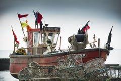 海斯廷斯渔船 免版税图库摄影