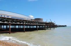海斯廷斯码头整修 库存照片