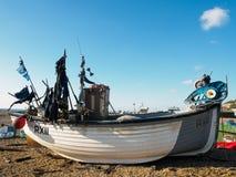 海斯廷斯,东部SUSSEX/UK - 11月06日:在是的渔船 库存照片