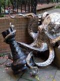海斯廷斯,东部SUSSEX/UK - 11月06日:Leigh染工的章鱼在 免版税图库摄影