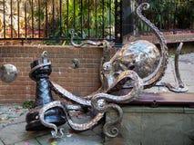 海斯廷斯,东部SUSSEX/UK - 11月06日:Leigh染工的章鱼在 免版税库存照片
