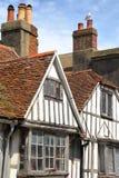 海斯廷斯,英国:16世纪用木材建造被构筑的和中世纪房子在海斯廷斯老镇 库存照片