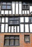 海斯廷斯,英国:16世纪用木材建造被构筑的和中世纪房子 库存照片