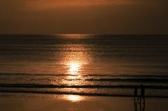 海日落印度尼西亚巴厘岛 图库摄影