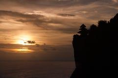 海日落印度尼西亚巴厘岛 库存图片