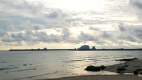 海日落海滩天空 股票录像