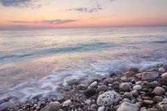 海日落,黎巴嫩看法  库存图片